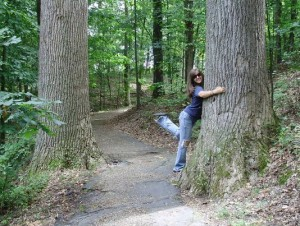 "I am often called a ""Tree Hugger"" by my friends. I can't imagine why."