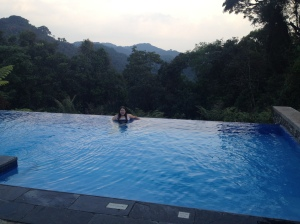 Did I mention the hotel had an infinity pool?